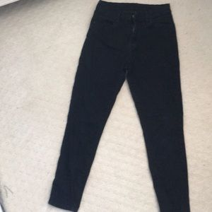 BDG faded black jeans. ankle length.